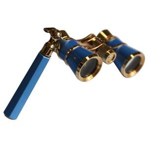 Jumelles de théâtre Levenhuk Broadway 3x25 bleu avec lorgnette