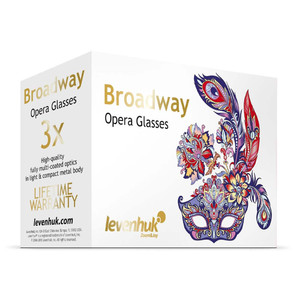 Levenhuk Binocolo da Teatro Broadway 3x25 blu con lorgnette