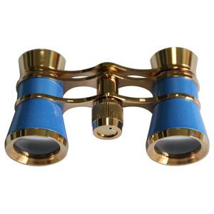 Levenhuk Binocolo da Teatro Broadway 3x25 blu con catenina e luce LED
