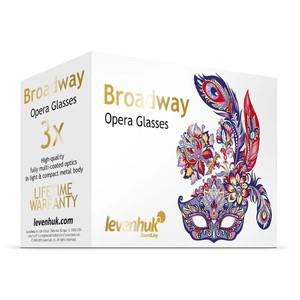 Levenhuk Binocolo da Teatro Broadway 3x25 lilla con catena e luce LED