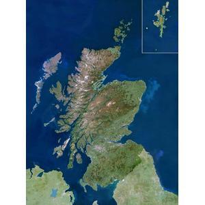 Carte géographique Planet Observer Planète Observer région Scotland