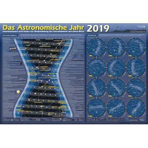 Astronomie-Verlag Poster Das Astronomische Jahr 2019