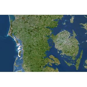Planet Observer Mapa de : la región de Jutlandia Meridional y Fionia