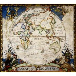 National Geographic Discoverer map - eastern hemisphere