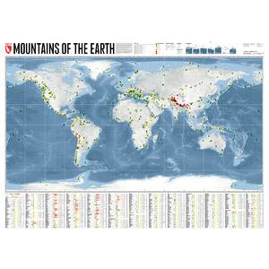 Marmota Maps Weltkarte Mountains of the Earth