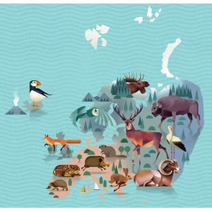 Marmota Maps Mappa del Mondo World of Animals
