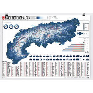 Marmota Maps Regional-Karte Alpenkarte 630 Skigebiete