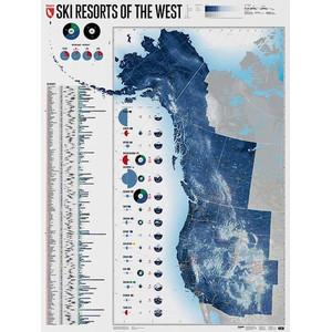 Marmota Maps Mapa regional Ski Resorts of the West