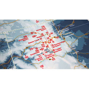 Marmota Maps Regional map Ski Resorts of the West