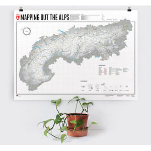 Marmota Maps Regional-Karte Mapping Out the Alps (Englisch)
