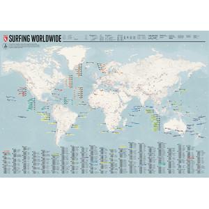 Marmota Maps Weltkarte Surfing Worldwide (Englisch)
