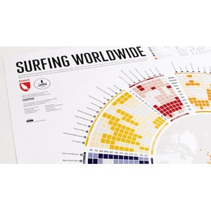 Marmota Maps Poster Surfing Worldwide Infographic