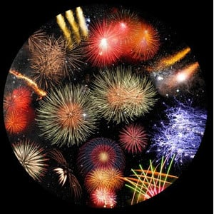 astrial Dia für das Sega Homestar Planetarium Feuerwerk Scenic