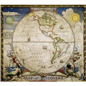 National Geographic Discoverer map - western hemisphere