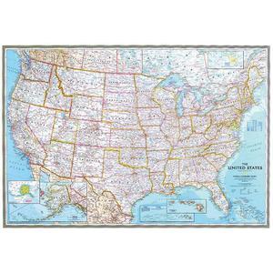National Geographic Mappa Carta politica degli USA - Formato gigante