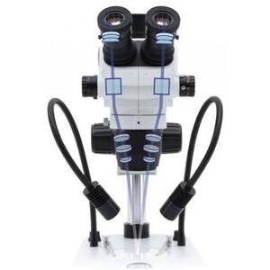 Optika Microscopio stereo zoom SZO-6 , trino, 6.7-45x, Säulenstativ, Auf-, Durchlicht, Doppelspot