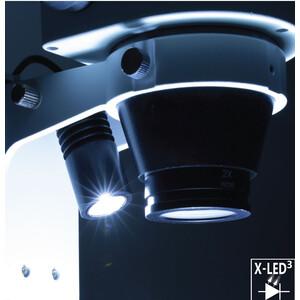 Optika Microscopio stereo zoom SZO-5 , bino, 6.7-45x, Säulenstativ, Auf-, Durchlicht, Doppelspot