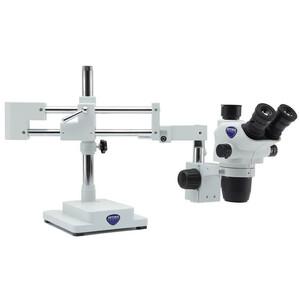 Optika Microscopio stereo zoom SZO-10,  trino, 6.7-45x, überhängend, 2-Arm, ohne Beleuchtung
