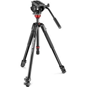 Trépied en aluminium Manfrotto MVH500AH,190X Alu Video Kit