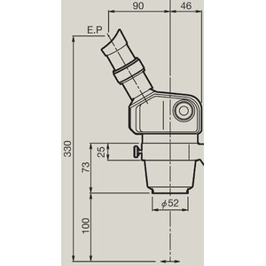 Nikon Cabazal estereo microsopio Stereo Zoomkörper SMZ-460, bino, 0.7x-3x, 60°