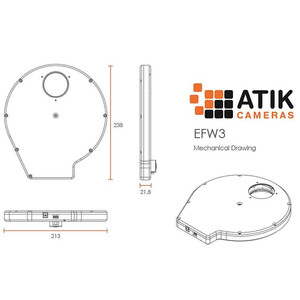 Atik Electronic Filter Wheel EFW3 7x 50.8mm