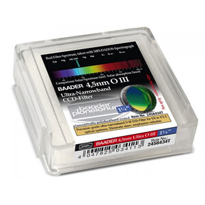"""Baader Filtro Ultra-Narrowband 4.5nm OIII CCD-Filter 1,25"""""""