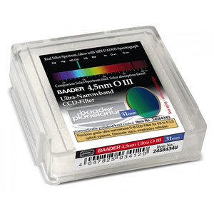 Baader Filtro Ultra-Narrowband 4.5nm OIII CCD-Filter 31mm