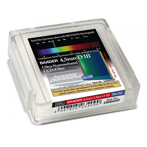 Baader Filtro Ultra-Narrowband 4.5nm OIII CCD-Filter 50x50mm