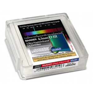 Baader Filtro Ultra-Narrowband 4.5nm OIII CCD-Filter 65x65mm