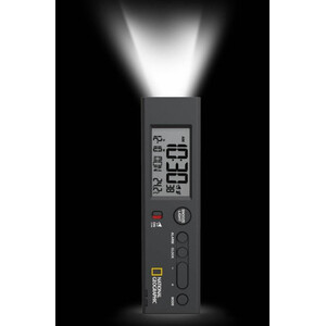 National Geographic World Time Clock with Temperature and Flashlight