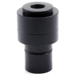 Adaptateur appareil-photo Optika Kameraadapter M-118, 0.75x, f.1/1.8 u. 2/3 Zoll Sensor, Okulartubus, 23, 30, 30.5 mm, C-Mount
