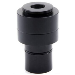 Optika Adattore Fotocamera Kameraadapter M-118, 0.75x, f.1/1.8 u. 2/3 Zoll Sensor, Okulartubus, 23, 30, 30.5 mm, C-Mount