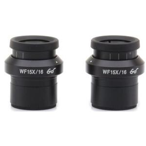 Optika Eyepiece Okulare ST-302, WF15x/16 (Paar), high eyepoint, Dioptrinausgleich und Augenmuscheln