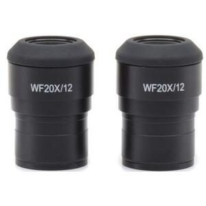 Optika Eyepiece Okulare ST-303, WF20x/12 (Paar), Dioptinausgleich, Augenmuscheln