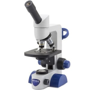 Optika Microscope B-61, mono, 40-400x, LED, Akku