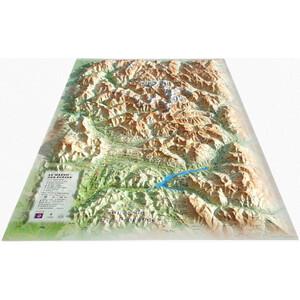 Carte magnétique 3Dmap Le Massif des Ecrins