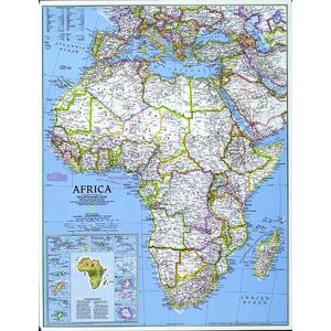 National Geographic Mappa Continentale Africa, politica