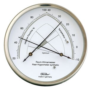Fischer Weather station room climate meter stainless steel synthethic
