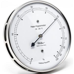 Fischer Wetterstation Haar-Hygrometer Edelstahl