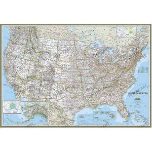 National Geographic Mappa Carta degli USA politica
