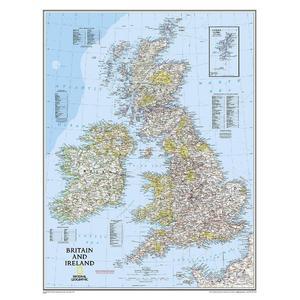 National Geographic Mappa Carta regionale delle isole Britanniche