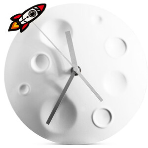 suck UK Rocket Moon Clock