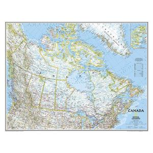National Geographic Countries map Canada