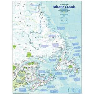 National Geographic Mapa regional de Canadá Atlántico