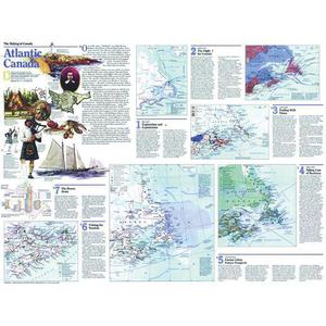 National Geographic Regional map Atlantic Canada