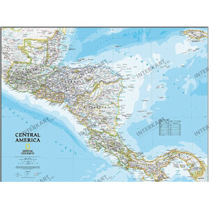 National Geographic Countries map means America