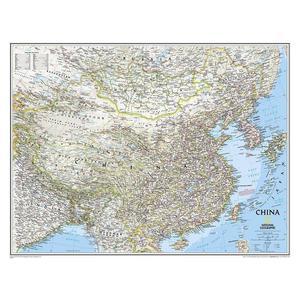 National Geographic Mappa Carta della Cina