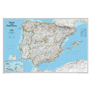 National Geographic Carte Espagne et Portugal
