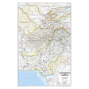 National Geographic Map Afghanistan - a land in crisis