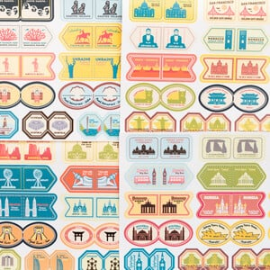 Miss Wood Sticker Set Monuments of the World